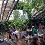 Corso - restaurant enclosure partly open