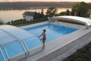 Pool Enclsoure Lake